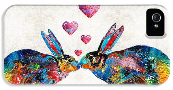 Bunny Rabbit Art - Hopped Up On Love - By Sharon Cummings IPhone 5 / 5s Case by Sharon Cummings