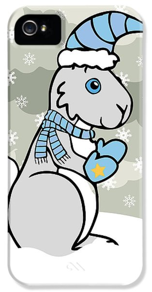 Bunny iPhone 5 Cases - Bunny Winter iPhone 5 Case by Christy Beckwith