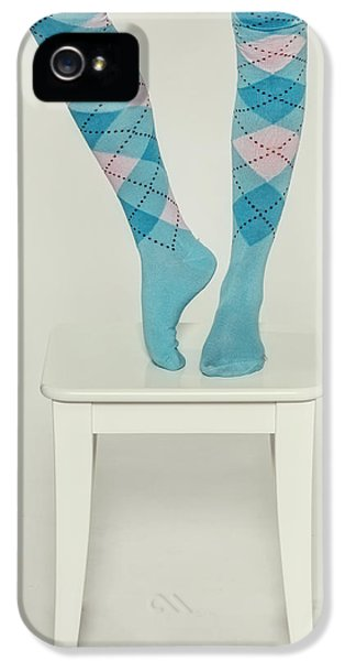 Stools iPhone 5 Cases - Burlington Socks iPhone 5 Case by Joana Kruse