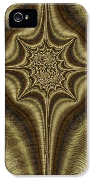 Bronze iPhone 5 Cases - Burnished Bronze Abstract iPhone 5 Case by John Edwards