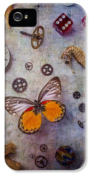 Cog iPhone 5 Cases - Butterfly And Seahorse iPhone 5 Case by Garry Gay