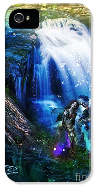 Puzzles iPhone 5 Cases - Butterfly Ball Waterfall iPhone 5 Case by Aimee Stewart