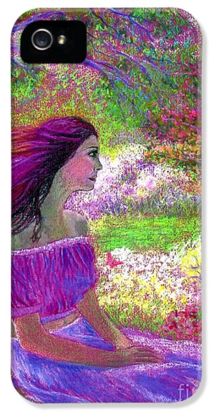 Flowering iPhone 5 Cases - Butterfly Breezes iPhone 5 Case by Jane Small