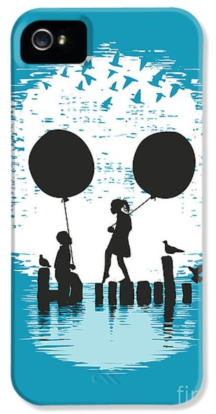 Balloon iPhone 5 Cases - Bye Bye Apocalypse iPhone 5 Case by Budi Satria Kwan