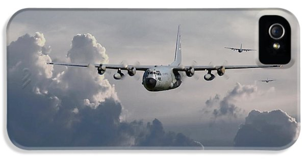 Usaf iPhone 5 Cases - C130 Hecules    In Trail iPhone 5 Case by Pat Speirs