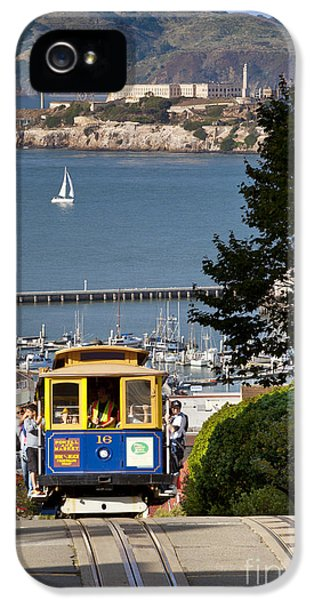 Cable iPhone 5 Cases - Cable Car in San Francisco iPhone 5 Case by Brian Jannsen