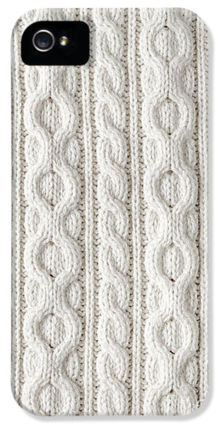 Cable iPhone 5 Cases - Cable knit iPhone 5 Case by Elena Elisseeva