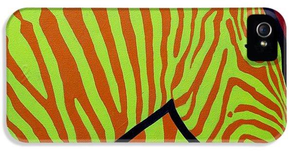Irish iPhone 5 Cases - Cadmium Zebra iPhone 5 Case by John  Nolan