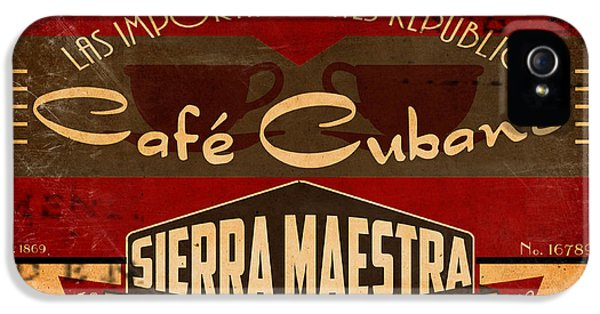 1930s iPhone 5 Cases - Cafe Cubano Crate Label iPhone 5 Case by Cinema Photography
