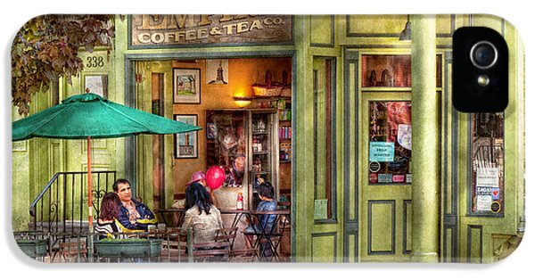 Store Front iPhone 5 Cases - Cafe - Hoboken NJ - Empire Coffee and Tea iPhone 5 Case by Mike Savad
