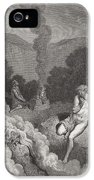 Brother iPhone 5 Cases - Cain and Abel Offering Their Sacrifices iPhone 5 Case by Gustave Dore