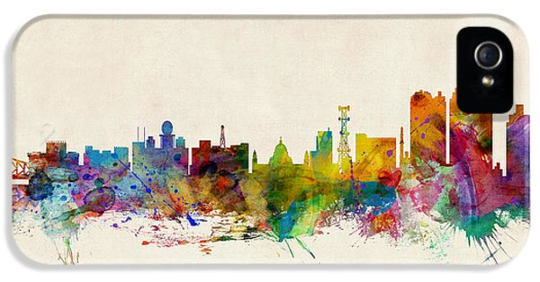 Indian iPhone 5 Cases - Calcutta India Skyline iPhone 5 Case by Michael Tompsett