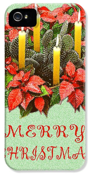 December iPhone 5 Cases - California Cactus Christmas iPhone 5 Case by Mary Helmreich