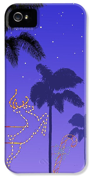 California Christmas Palm Trees IPhone 5 / 5s Case by Mary Helmreich