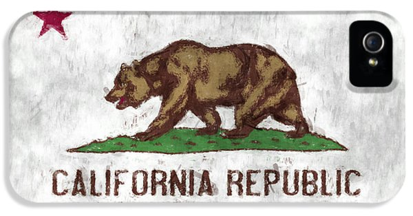 California iPhone 5 Cases - California Flag iPhone 5 Case by World Art Prints And Designs