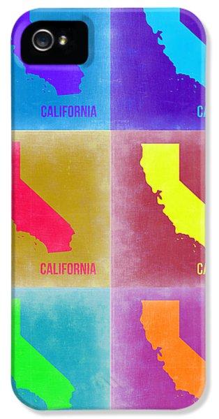 California iPhone 5 Cases - California Pop Art Map 2 iPhone 5 Case by Naxart Studio