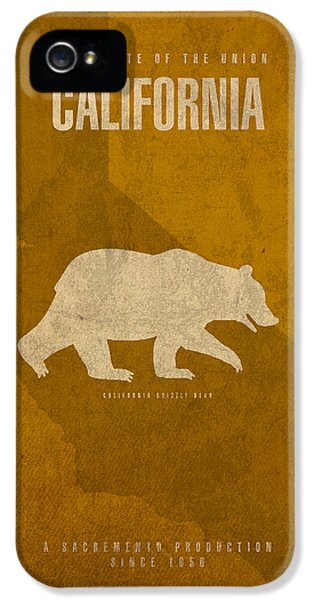 California iPhone 5 Cases - California State Facts Minimalist Movie Poster Art  iPhone 5 Case by Design Turnpike