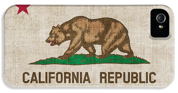 Declaration iPhone 5 Cases - California State flag iPhone 5 Case by Pixel Chimp