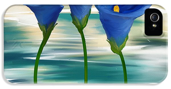 Trio iPhone 5 Cases - Calla Trio- Calla Lily Paintings iPhone 5 Case by Lourry Legarde