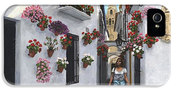 Andalusia iPhone 5 Cases - Calle de las Flores Cordoba iPhone 5 Case by MGL Meiklejohn Graphics Licensing