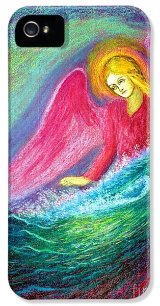 Angel iPhone 5 Cases - Calming Angel iPhone 5 Case by Jane Small