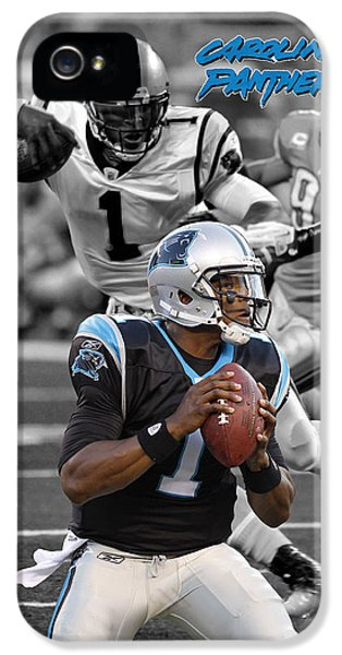Cam Newton Panthers IPhone 5 / 5s Case by Joe Hamilton