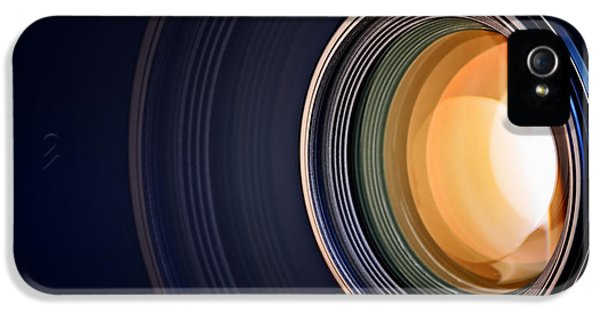 Technology iPhone 5 Cases - Camera lens background iPhone 5 Case by Johan Swanepoel