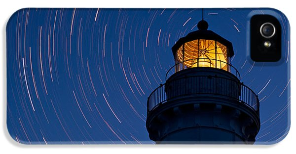 Astronomy iPhone 5 Cases - Cana Island Lighthouse Solstice iPhone 5 Case by Steve Gadomski
