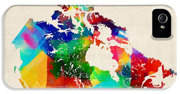 Canada iPhone 5 Cases - Canada Rolled Paint Map iPhone 5 Case by Michael Tompsett