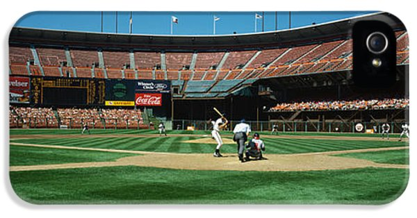 Ballpark iPhone 5 Cases - Candlestick Park San Francisco Ca iPhone 5 Case by Panoramic Images