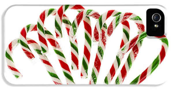 Cane iPhone 5 Cases - Candy canes iPhone 5 Case by Elena Elisseeva