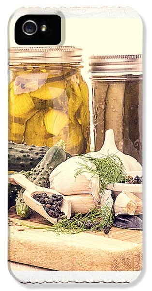 Prepper iPhone 5 Cases - Canning Kitchen Art iPhone 5 Case by Edward Fielding