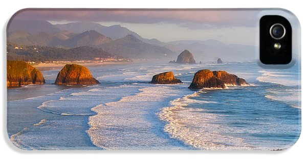 Oregon Coast Landscapes iPhone 5 Cases - Cannon Beach Sunset iPhone 5 Case by Darren  White