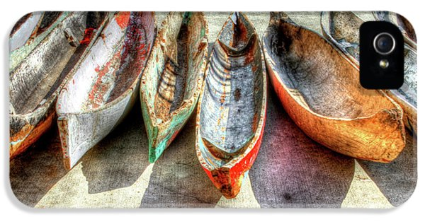 Decor iPhone 5 Cases - Canoes iPhone 5 Case by Debra and Dave Vanderlaan