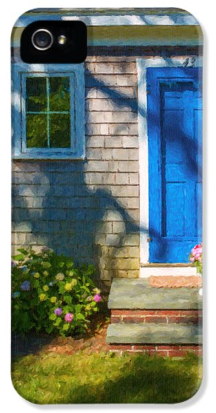 Porch iPhone 5 Cases - Cape Cod House iPhone 5 Case by Diane Diederich