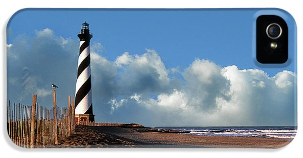 Lighthouse iPhone 5 Cases - Cape Hatteras Light iPhone 5 Case by Skip Willits