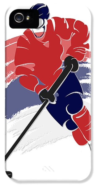 Capital iPhone 5 Cases - Capitals Shadow Player2 iPhone 5 Case by Joe Hamilton