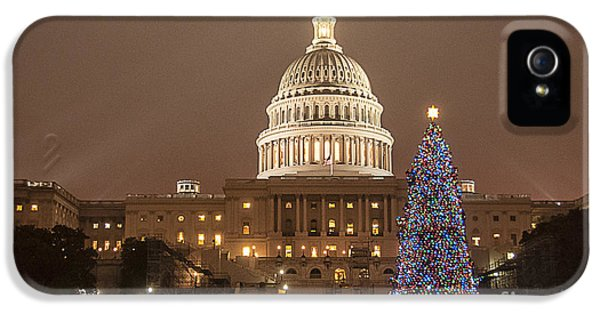 House Of Representatives iPhone 5 Cases - Capitol Christmas iPhone 5 Case by Terry Rowe