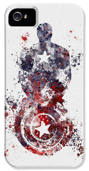 Dc iPhone 5 Cases - Captain America iPhone 5 Case by Rebecca Jenkins