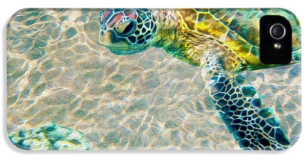 Beautiful Sea Turtle IPhone 5 / 5s Case by Jon Neidert