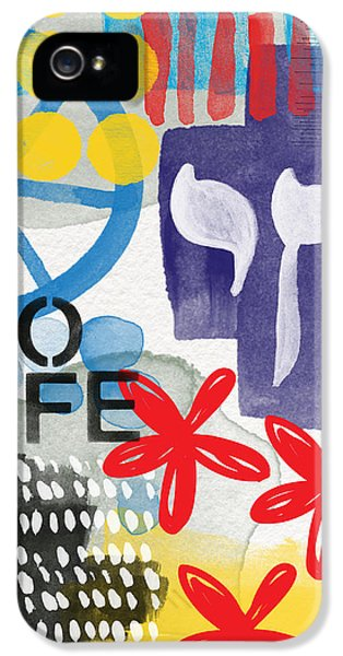 Judaica iPhone 5 Cases - Carousel #5 - Contemporary Abstract Art iPhone 5 Case by Linda Woods