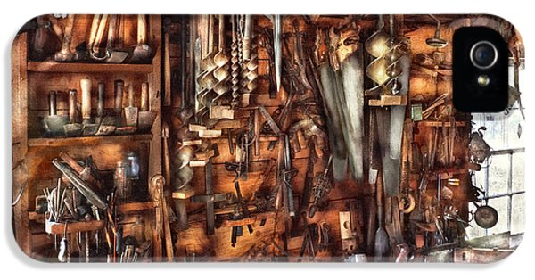 Workbench iPhone 5 Cases - Carpenter - Thats a lot of tools  iPhone 5 Case by Mike Savad