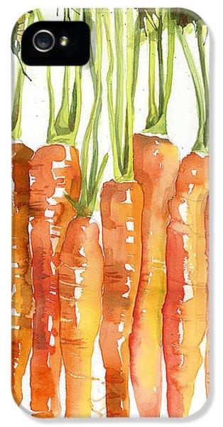 Carrot iPhone 5 Cases - Carrot Bunch Art Blenda Studio iPhone 5 Case by Blenda Studio
