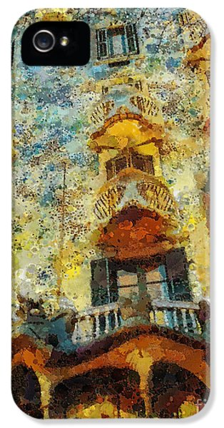 Mo T iPhone 5 Cases - Casa Battlo iPhone 5 Case by Mo T
