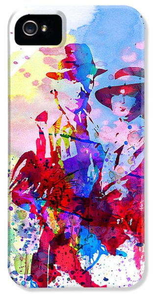 Tv Show iPhone 5 Cases - Casablanca Watercolor iPhone 5 Case by Naxart Studio