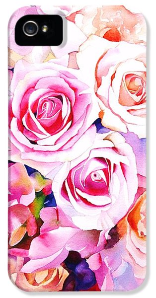 Roses iPhone 5 Cases - Cascade iPhone 5 Case by Sarah Bent