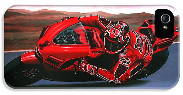 Circuits iPhone 5 Cases - Casey Stoner on Ducati iPhone 5 Case by Paul  Meijering