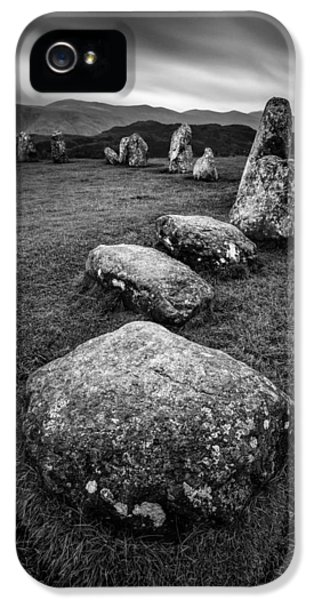 Archeology iPhone 5 Cases - Castlerigg Stone Circle iPhone 5 Case by Dave Bowman