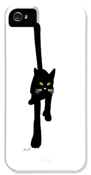 Cat Stepping Forward IPhone 5 / 5s Case by The Art of Marsha Charlebois