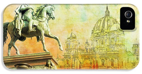 Color Effect iPhone 5 Cases - Cathedral de Berlin iPhone 5 Case by Catf